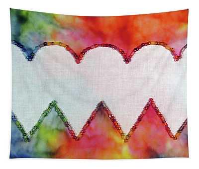 Be Still My Beaded Hearts Tapestry