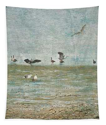 Beach And Birds Tapestry