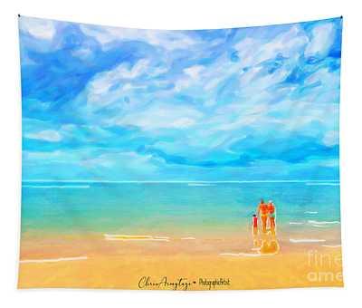 Beach Blues II Tapestry