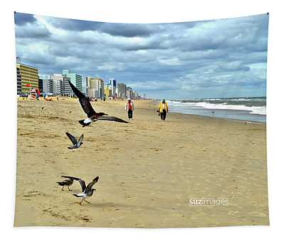 Beach Comber Traffic Tapestry