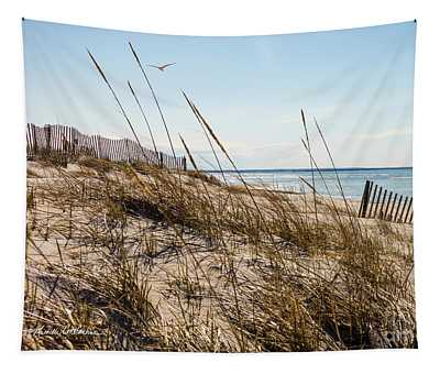 Beach Fence Cape Cod Tapestry