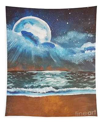 Beach Moon  Tapestry