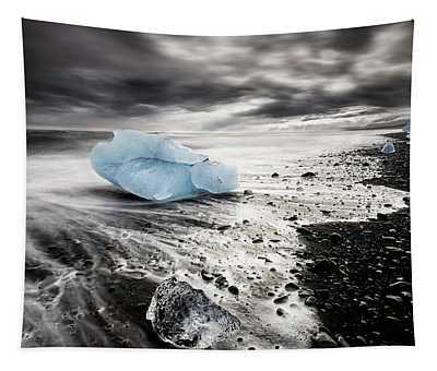 Beach Of Ice Tapestry