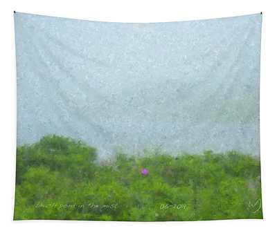 Beach Pond In The Mist Tapestry