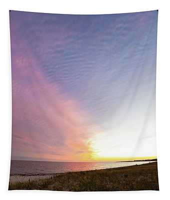 Beach Sunset West Dennis Cape Cod Tapestry