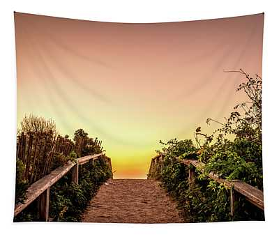 Path Over The Dunes At Sunrise. Tapestry