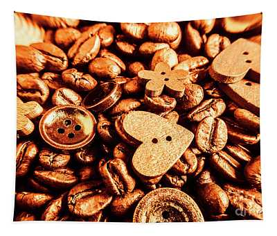 Beans And Buttons Tapestry