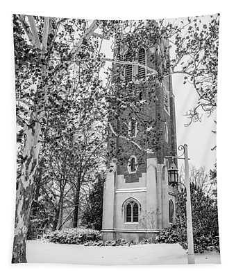 Beaumount Tower Msu Winter  Tapestry
