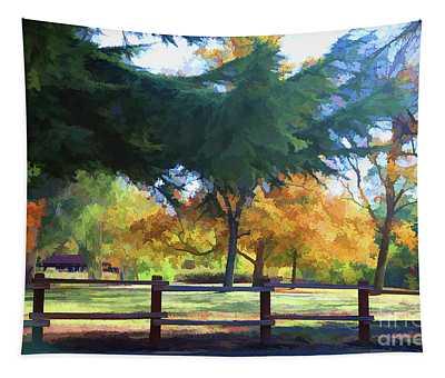 Beautiful Colors Of Fall Vasona Park  Tapestry