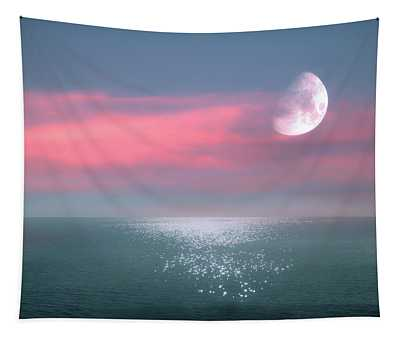 Beautiful Evening In Dreamland By The Sea Tapestry