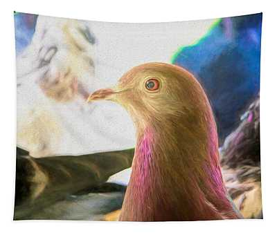 Beautiful Homing Pigeon Painted Tapestry