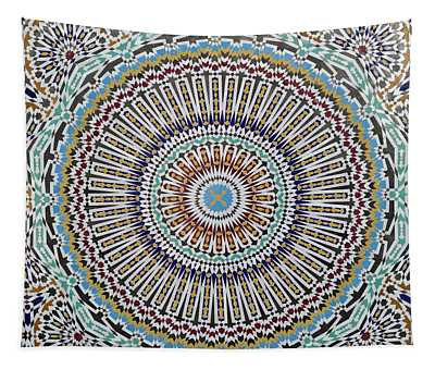 Beautiful Infinity Desgn Mosaic Fountain Tapestry