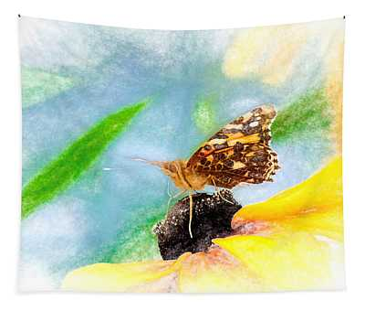 Beautiful Painted Lady Butterfly Tapestry