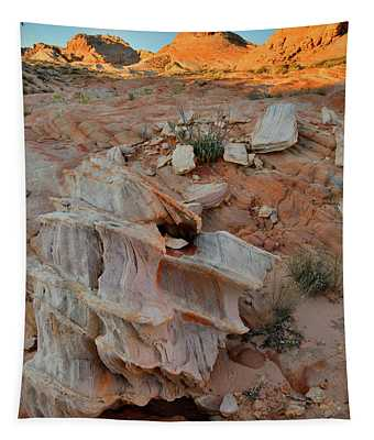 Beautiful Rock Form In Valley Of Fire Tapestry