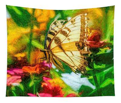 Beautiful Swallow Tail Butterfly Tapestry