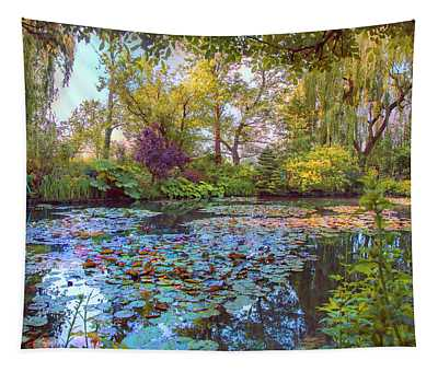 Beauty Of Giverny Tapestry