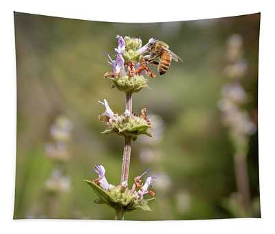 Bee In Action Tapestry