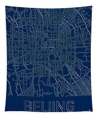 Beijing Blueprint City Map Tapestry