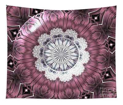 Bejeweled Royal Purple Diadem Fractal Abstract Tapestry