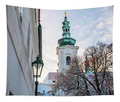 Bell Tower Of Strahov Monastery  Tapestry