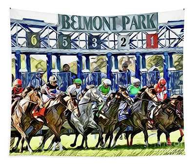 Belmont Park Starting Gate 1 Tapestry