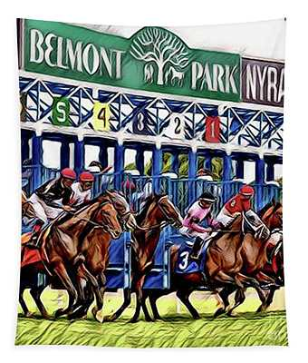 Belmont Park Starting Gate 2 Tapestry