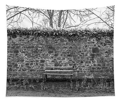 Bench And Wall Kilkenny Castle Ireland  Tapestry