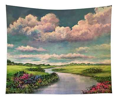 Beneath The Clouds Of Paradise Tapestry