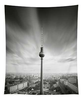 Berlin Tv Tower, Berlin, Germany, 2015 Tapestry