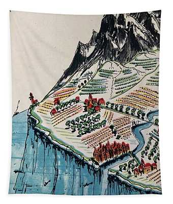 Between Mountains And Sea Tapestry