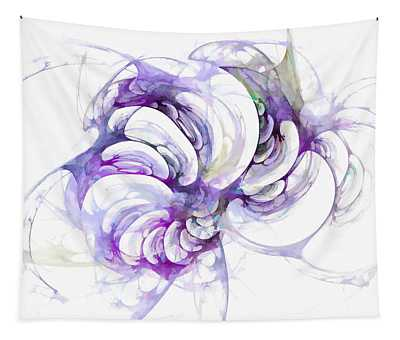 Beyond Abstraction Purple Tapestry
