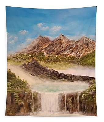 Beyond The Mountains Tapestry