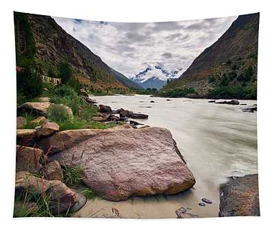 Tapestry featuring the photograph Bhag River by Whitney Goodey
