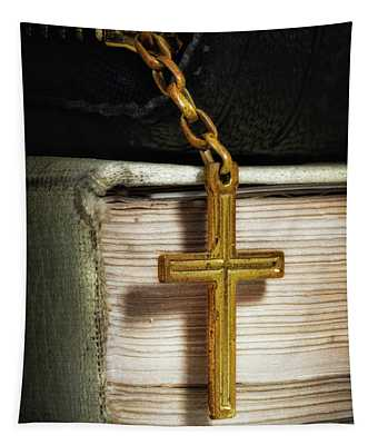 Bibles With Cross Tapestry