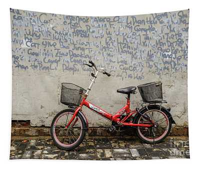 Bicycle And Graffiti Wall Tapestry