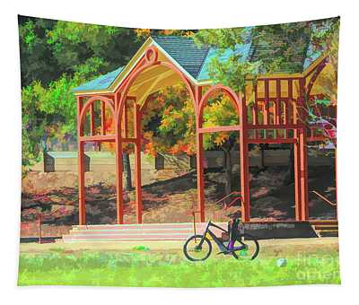 Bicycle Park California Fall Season  Tapestry