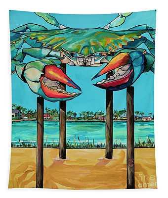 Big Blue Crab Rockport Tapestry