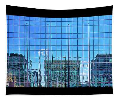 Big City Abstract Tapestry