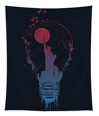 Big City Lights Tapestry