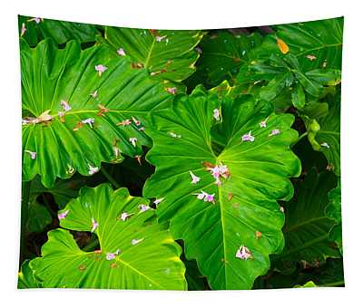 Big Green Leaves Tapestry