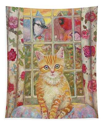 Big Kitty Tapestry
