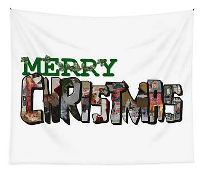 Big Letter Merry Christmas Tapestry