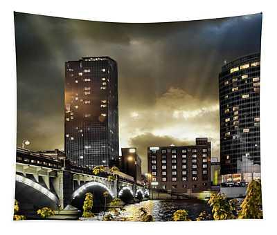 Big Sky Grand Rapids Night Tapestry