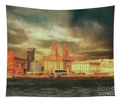 Big Sky Over The Mersey Tapestry