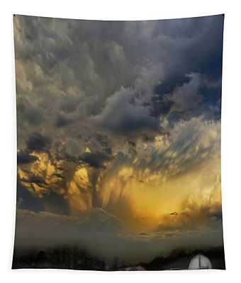 Big Sky Yellow Light Tapestry