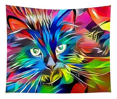 Big Whiskers Cat Tapestry