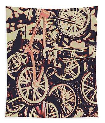 Bike Mountain Tapestry