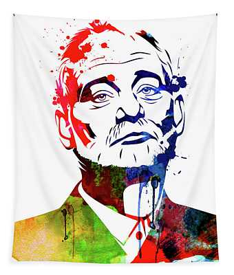 Bill Murray Watercolor Tapestry