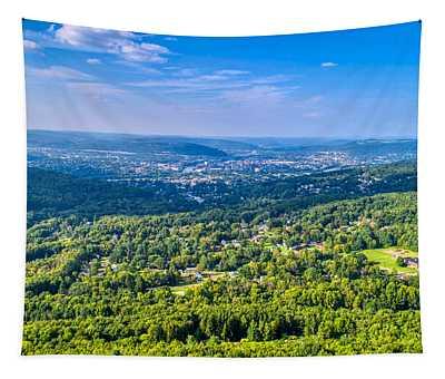 Binghamton Aerial View Tapestry