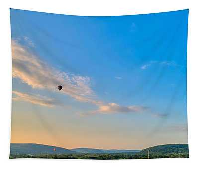 Binghamton Spiedie Festival Air Ballon Launch Tapestry